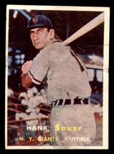 1957 Topps #197 Hank Sauer Poor  ID: 308657