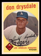 1959 Topps #387 Don Drysdale Excellent+  ID: 308738