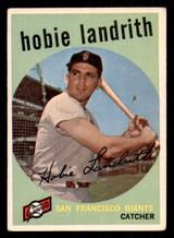 1959 Topps #422 Hobie Landrith Excellent