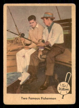 1959 Fleer Ted Williams #67 Two Famous Fishermen Good  ID: 308754