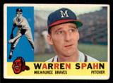 1960 Topps #445 Warren Spahn Very Good  ID: 308780