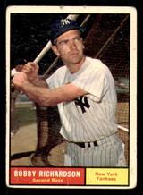 1961 Topps #180 Bobby Richardson Poor  ID: 308805