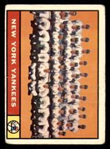 1961 Topps #228 Yankees Team Good  ID: 308807