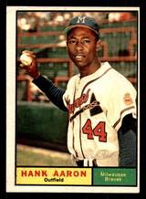 1961 Topps #415 Hank Aaron Excellent+  ID: 308817