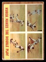 1962 Topps #311 Kubek Makes the Double Play IA Poor
