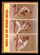 1962 Topps #312 Spahn Shows No-Hit Form IA Excellent+  ID: 308861