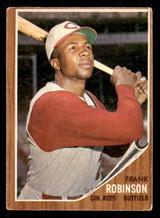 1962 Topps #350 Frank Robinson Very Good  ID: 308864