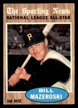 1962 Topps #391 Bill Mazeroski UER AS Excellent+  ID: 308867
