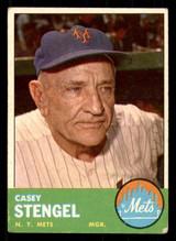 1963 Topps #233 Casey Stengel MG Very Good  ID: 308902