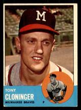 1963 Topps #367 Tony Cloninger Excellent
