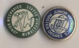 1896 Master Mechanic Pins Lot 2 Different  #*