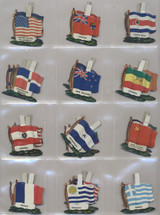 """1960's Chain Tab """"National Flags"""" Cereal Premiums Lot 33 Different  #*"""
