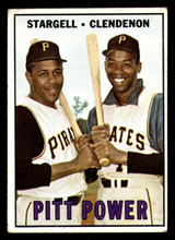 1967 Topps #266 Willie Stargell/Donn Clendenon Pitt Power Very Good  ID: 309032