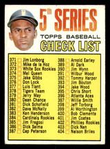 1967 Topps #361 Roberto Clemente Checklist Excellent+  ID: 309036