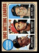 1968 Topps #1 Roberto Clemente/Tony Gonzalez/Matty Alou N.L. Batting Leaders Excellent+  ID: 309041