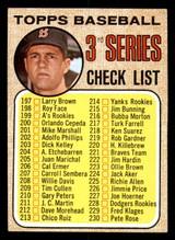 1968 Topps #192 Carl Yastrzemski Checklist 197-283 ERR Excellent  ID: 309047
