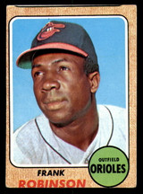 1968 Topps #500 Frank Robinson Miscut