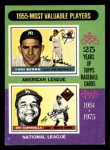 1975 Topps #193 Yogi Berra/Roy Campanella 1955 MVP's VG-EX