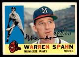 1960 Topps #445 Warren Spahn Buy Back Auto Signed 009/100 Braves