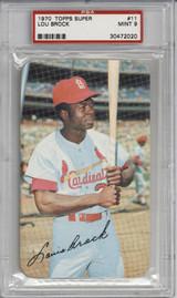 1970 Topps Super #11 Lou Brock St Louis Cardinals PSA 9 Mint