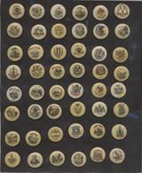 1910-15 P10 Sweet Caporal States Pins Set 48  #*