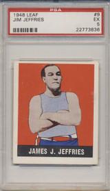 1948 LEAF #9  James J. Jeffries PSA 5 EX  #*