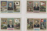 """1888 States & Terr. Governors Coats Of Arms 47/48 """""""" CUT FROM ALBUM  #*"""