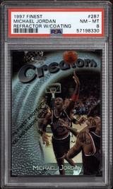 1997-98 Finest #287 Michael Jordan Bulls PSA 8 NM-Mint w/Coating Creators /1090