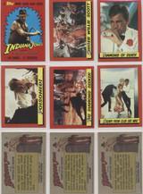 1984 Topps Indiana Jones Temple Of Doom Set 88 NO STICKERS  #*
