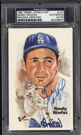 Sandy Koufax Perez Steele HOF Postcard Signed PSA DNA Slabbed Dodgers ID: 310581