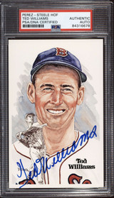 Ted Williams Perez Steele HOF Postcard Signed PSA DNA Slabbed Red Sox ID: 310584