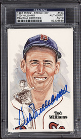 Ted Williams Perez Steele HOF Postcard Signed PSA DNA Slabbed Red Sox ID: 310585