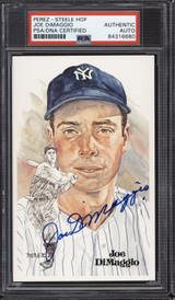 Joe DiMaggio Perez Steele HOF Postcard Signed PSA DNA Slabbed Yankees ID: 310591