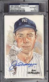 Joe DiMaggio Perez Steele HOF Postcard Signed PSA DNA Slabbed Yankees ID: 310592
