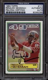 1983 Topps #171 Renaldo Nehemiah PSA/DNA Auto Signed San Francisco 49ers ROOKIE RC