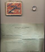 1934 SKY BIRD BUBBLE GUM BOX (RED) W/ INSIGNIA RING  #*