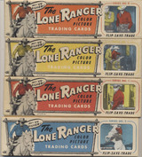 1950 The Lone Ranger Ed-U-Card (8) Sleeves 5 Strips 3 Card Set 120 Cards  #*
