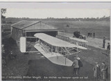 1906 Wilbur Wright Advertising Back Post Card Size Real Photo  #*