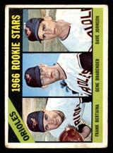 1966 Topps #579 Frank Bertaina/Gene Brabender/Dave Johnson Orioles Rookies Good RC Rookie