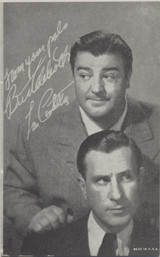 1950's Bud Abbott & Lou Costello Exhibit Card 3 3/8 by 5 3/8 inches  #*