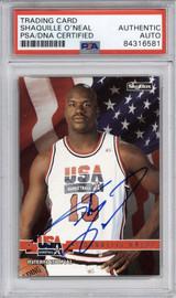1994 Skybox #67 Shaquille O'Neal Shaq PSA DNA Auto Signed Team USA