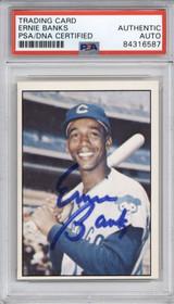 1978 TCMA Ernie Banks Cubs PSA DNA Auto Signed
