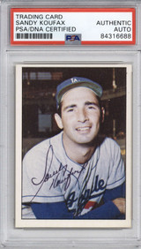 1978 TCMA The 1960's Sandy Koufax Dodgers PSA DNA Auto Signed