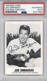 1977 TCMA Renata Galasso #1 Joe DiMiggio Yankees PSA DNA Auto Signed