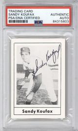 1978 Grand Slam #150 Sandy Koufax Dodgers PSA DNA Auto Signed