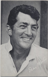 1950's Dean Martin Courtesy of Billboard Exhibit Card Printed In The USA   #*