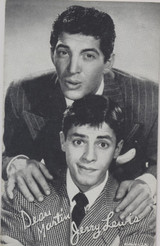 1940's Dean Martin & Jerry Lewis Exhibit Card Made In USA  #*