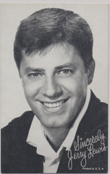 1950's Jerry Lewis Exhibit Card Printed in USA  #*