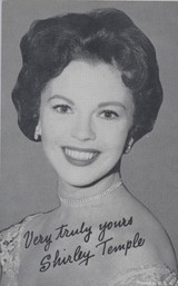 1950's Shirley Temple Exhibit Card Printed in USA  #*