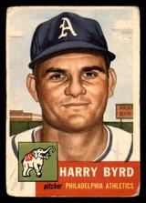1953 Topps #131 Harry Byrd DP Poor RC Rookie